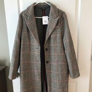 Topshop plaid coat - new, never worn